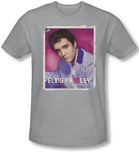 Elvis Presley - Herren 35 Jacke T-Shirt in Silber, Large, Silver (Elvis Presley Jacke)
