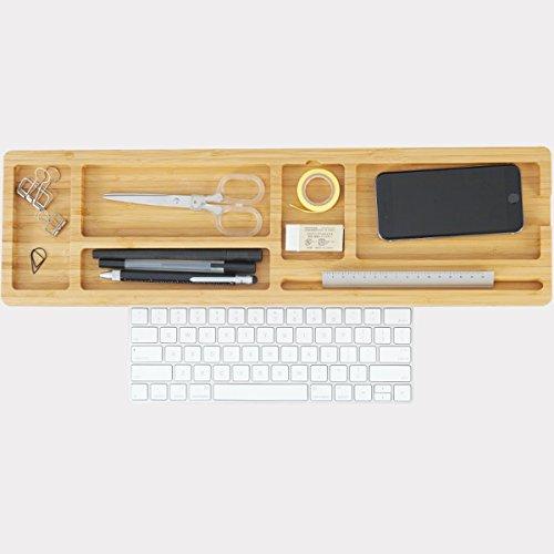 Nwn Aufbewahrungsbox Schreibtisch Organizer Bambus Kreative Multifunktions Desktop Organizer Computer Tastatur Halter Bürobedarf Regal (4cm, 6cm) Naturholz (größe : Small) (Tastatur Für Desktop-organizer)