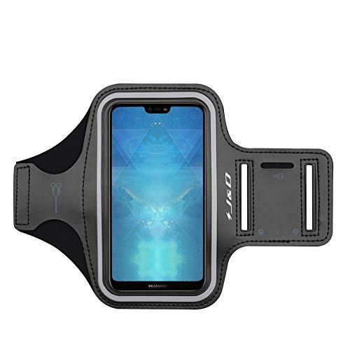 J&D Compatibile per Fascia da Braccio Sportiva per Huawei P20/P20 Lite/P10/P10 Lite/P30/P30 Lite/iPhone XR/Samsung Galaxy Note 10 Bracciale con Portachiavi Slot, Connessione Auricolare Perfetta