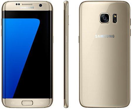 Samsung Galaxy S7 Edge SM G935FZDUINS  Gold Platinum, 32  GB