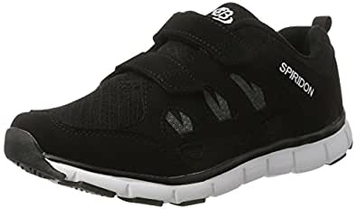 Bruetting SPIRIDON FIT, Unisex-Erwachsene Sneakers, Schwarz (SCHWARZ/WEISS), 47 EU (13 Erwachsene UK)
