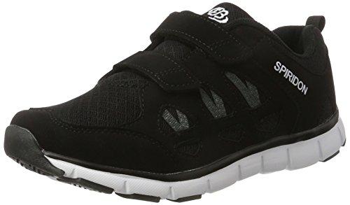 Bruetting Unisex-Erwachsene Spiridon Fit V Sneaker Schwarz (Schwarz/Weiss)