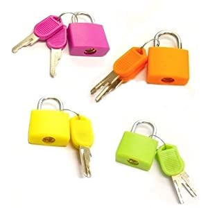Aptitude Royals Tri-Circus Luggage Lock (Multicolor) -Set of 4