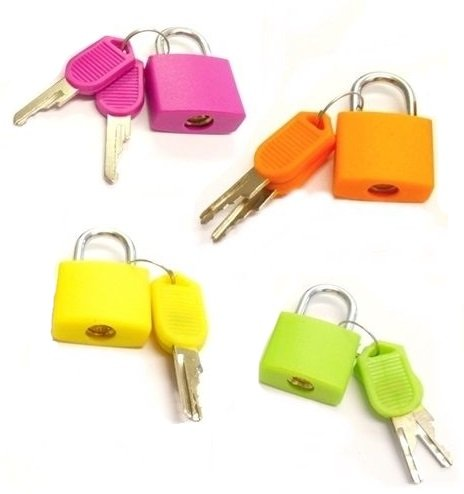 TRI-CIRCUS Set of 4 Small Padlocks for Securing Luggage while...