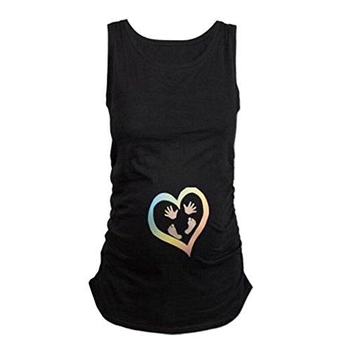 d5924a9c64 WEIMEITE Embarazo Embarazadas Tops Mujeres Embarazadas Ropa Love Impreso  Camiseta de enfermería Top Plus Size Tops