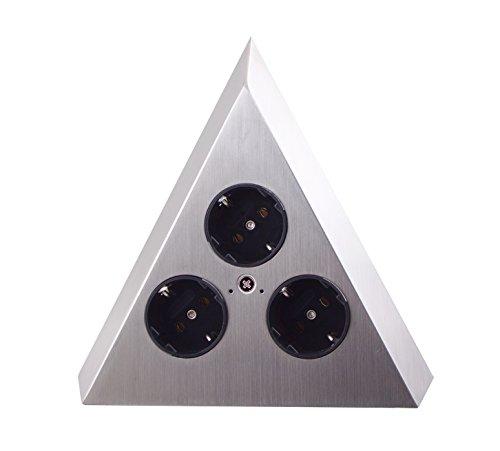 THEBO-Licht Steckdosenelement ST 3007-C in Pyramidenform und 3 Anschlüssen / Ecksteckdosen /...