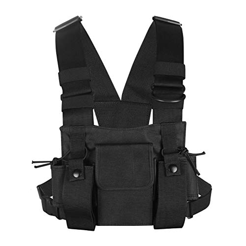 ouch Chest Pack Pocket Walkie Talkie Bag Holder Carry Case ()