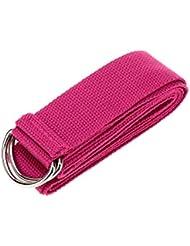 skyram (TM) 1pc 183* 3,8cm correa cinturón de Yoga Stretch Correa Cinturón Cintura armas pierna ejercicio yoga y pilates fitness gimnasio cuerda para hombre Mujer, granate