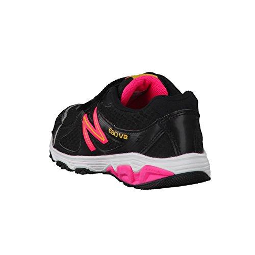 New BalanceKV680 - Scarpe Running Unisex - Bambini Nero - nero/rosa