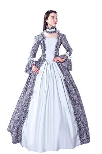 s Rokoko-Kostüm Damen Kleid Party Kostüm Maskerade - - XXX-Large:Höhe 68/70