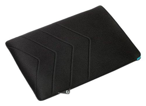 DICOTA PadSkin fuer das Apple iPad und iPad 2 - Neopren Skin - aussen schwarz - innen blau