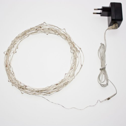 Chaîne 12 m, 120 microled blanc chaud, câble Metal, guirlande lumineuse pour sapin de Noël, Décoration, lumières de Noël