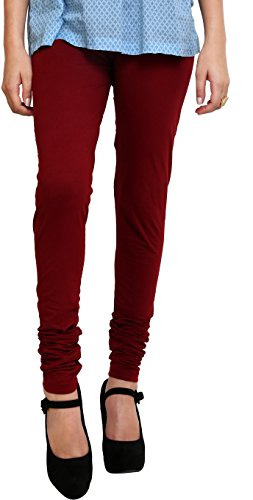 Young Trendz Womens Cotton Leggings(T2_Maroon_Free Size)