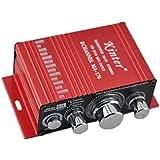 Amplificador - Kinter HiFi Amplificador de 2 canales, estereo, Amplificador paral coche / hogar, para iPod / MP3 / FM de radio mini-USB