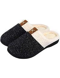 IceUnicorn Winter Hausschuhe Herren Damen Memory Foam Plüsch Wärme Home Rutschfeste Slippers wollähnliche für Drinnen und Draußen