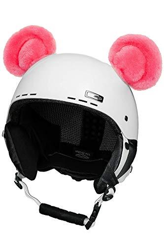 Crazy Ears Helm-Accessoires Biene Teddy Maus Katze. Ski-Ohren geeignet für Skihelm Motorradhelm Fahrradhelm und vieles mehr. Helm Dekoration für Kinder und Erwachsene,...