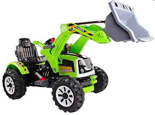 BSD Véhicule électrique pour Enfants Voiture électrique - Tracteur, Pelleteuse - Vert