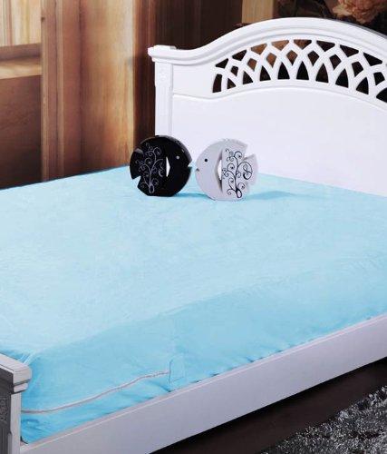 Homefab India Blue Waterproof Mattress Protector (91X189X12 Cm Each) -...