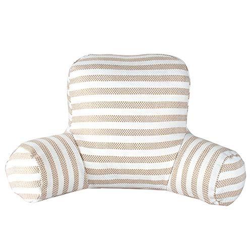 GUOWEI Rückenlehne Kissen Sitzen Unterstützung Bett Stuhl Kopfkissen zum Komfort Lesen Entspannend Schaum Gefüllt (Color : A, Size : 53x33cm) - Stricken Lounge-set