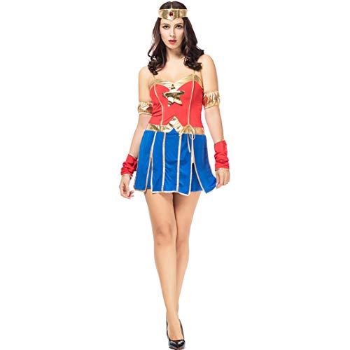 Halloween Kleider, Superman Cosplay Sexy Kostüm Wonder Woman America Captain Superman Damen Erwachsene Weihnachtsshow - Geist Captain America Kostüm