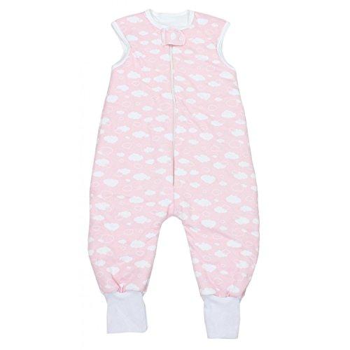TupTam Baby Unisex Winter Schlafsack mit Beinen, Farbe: Wolken Rosa, Größe: 80-86
