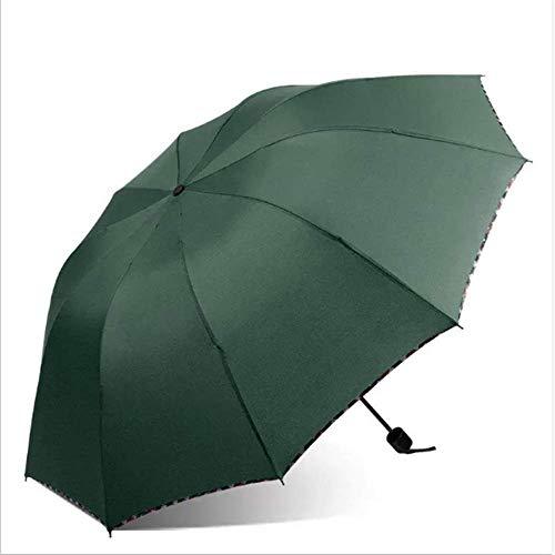 SHJIA Regenschirm Regnerischen Tag wasserdichte Tri Gefaltet Staubdicht Winddicht Faltung Für Männer Frauen