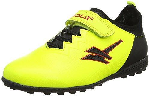 Gola Alpha Vx Velcro, Unisex-Kinder Fußballschuhe, Gelb (Volt/black), 26 EU (8 UK)
