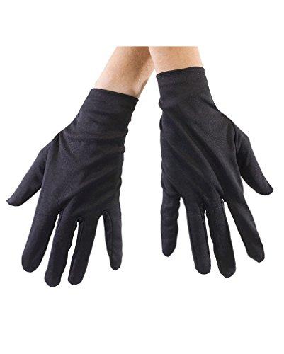 Schwarze Stoff Handschuhe (Zorro Handschuhe)