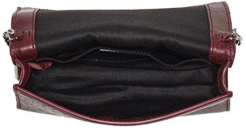 Hugo Damen Teresa-a 10202305 01 Schultertasche, 4,5 X 13 X 18 Cm Marciume (rosso Scuro)
