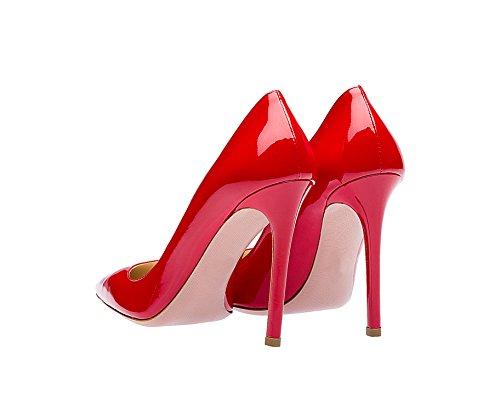 Guoar - Scarpe chiuse Donna rosso di vernice