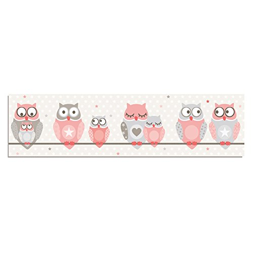 anna wand lampenschirm owl stars girls schirm f r kinder baby lampe mit eulen sternen in. Black Bedroom Furniture Sets. Home Design Ideas