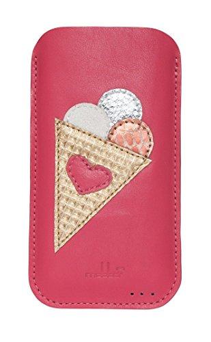 mabba® iPhone Tasche Ledertasche für das iPhone 6/6s und 7 als auch iPhone 6/6s und 7 Plus aus Leder -Summerlove- Handmade (iPhone 6, pink)