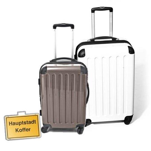 HAUPTSTADTKOFFER Special 2013 - 2er Set Varianten (87Liter/130Liter Koffer) verschiedene Farbvarianten; Zahlenschloss Boys (Titan 87L / Weiss 130L)