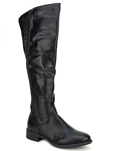 Cendriyon, Botte noire HAILO MODE Chaussures Femme Noir