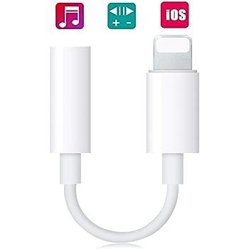Earphone for Iphone 7 Adapter Port to 3.5mm Headphone Jack Adaptor Headphone Accessory Converter for IPhone Adapter Compatible with iPhone 7/7 Plus/8/8Plus/X/XS/ipad etc.compatible IOS12(white)