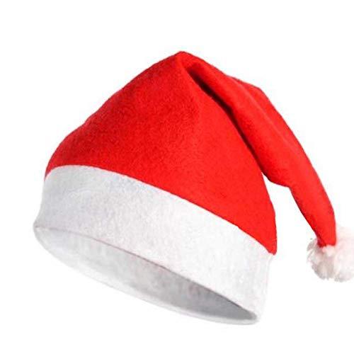 LUCHA Weihnachtsmütze, Weihnachtsmannmütze, rot-weiß, Kopfschmuck, Party-Dekoration, klassisches Cosplay-Kostüm, Requisiten, 5 Stück, Adult, 26x37cm (Adult Kostüm 5 Stück)