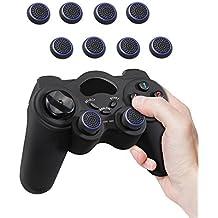 Fosmon (4 parejas / 8 Contar) Analog Controller silicona Palo Grips Cap Joystick Thumb Stick funda para PS4, PS3, Xbox One, y Xbox 360 - Fosmon empaquetado