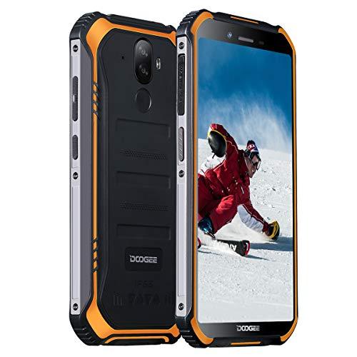 Outdoor Handy Günstig DOOGEE S40 Lite(2020) Robustes IP68/IP69K Wasserdicht Smartphone ohne Vertrag 5,5 Zoll HD 2GB + 16GB 128 GB Erweiterbar 4650mAhAkku Android 9.0 Stoßfest Staubdicht Face ID/GPS