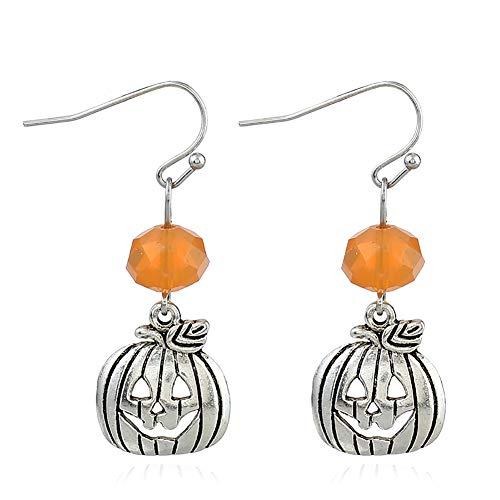 Kürbis Ausschnitte - Leisial Damen Legierung Halloween Ohrringe Halloween