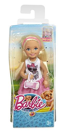 Barbie CLG15 - Das große Hundeabenteuer, Chelsea mit rosa Rock und Hündchen T-Shirt (Rosa T-shirt Barbie)