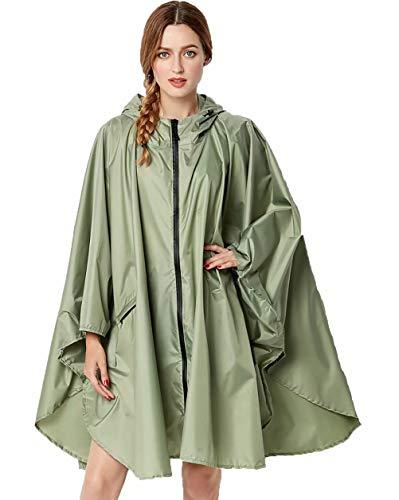 NUUR Damen Regenponcho Regenmantel Unisex Regenjacke Wasserdicht Regencape Wiederverwendbar mit Kapuze