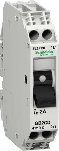 Schneider Electric GB2CD05 Tesys Gb2, Disyuntor Magnetotérmico, 1P + N, 0,5 A, Id = 6,6 A