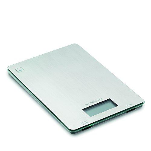 kela 15746 Balance de Cuisine Digitale, 15 x 22 cm, INOX, Pia, Acier Inoxydable, 15x22x1,5 cm
