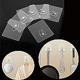 Walkretynbe weiteres Haushaltszubehör, 6 Stück, transparente Wandhaken für Küche und Badezimmer, Haken, für die Rückseite