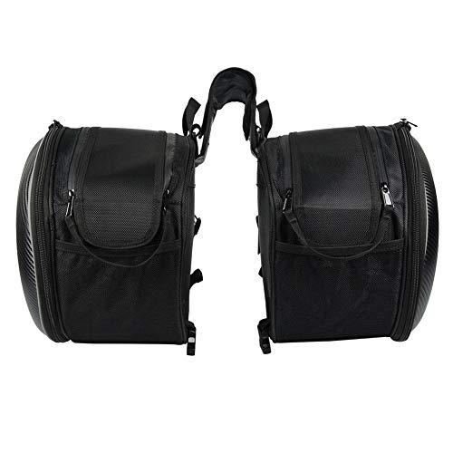 haodene Universal Satteltasche Hecktasche Gepäckträgertasche für Motorrad Gepäckträger Soziussitz als Aufbewahrungstasche Werkzeugtasche Abnehmbar Wasserdicht ca. 40L Stauraum