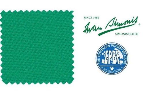 """Billardtuch """"Simonis Rapid 300"""",gelb-grün, 195cm"""