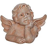 50cm aus Terracotta Figur Putte Deko Garten Gartenfigur Dekofigur Engel Höhe