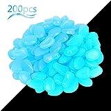 ZoomSky Piedras Luminosas 200pcs Piedras Luminosas Brillante Azul Roca Luminoso Piedras Fluorescente para Decorar jardín hogar Botella Maceta