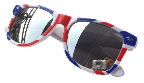 RetailZone Sonnenbrille, verspiegelt, Motiv: Union Jack