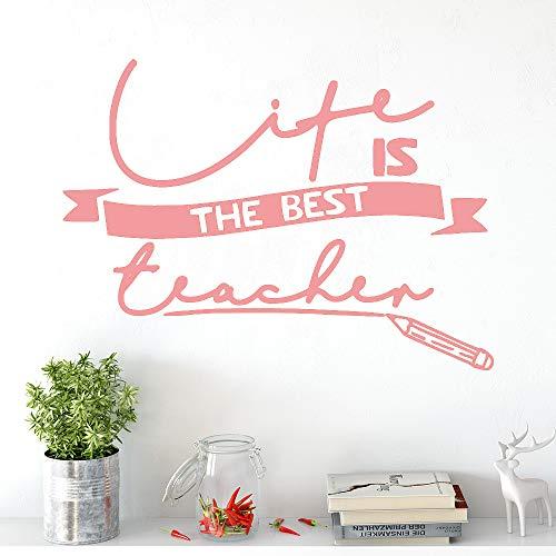 Schönheit leben lehrer selbstklebende vinyl wasserdichte wandkunst aufkleber wohnzimmer schlafzimmer dekoration zubehör wandmalereien rosa 28 cm x 38 cm